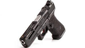zev Enhanced Prize Fighter pistol slide left angle
