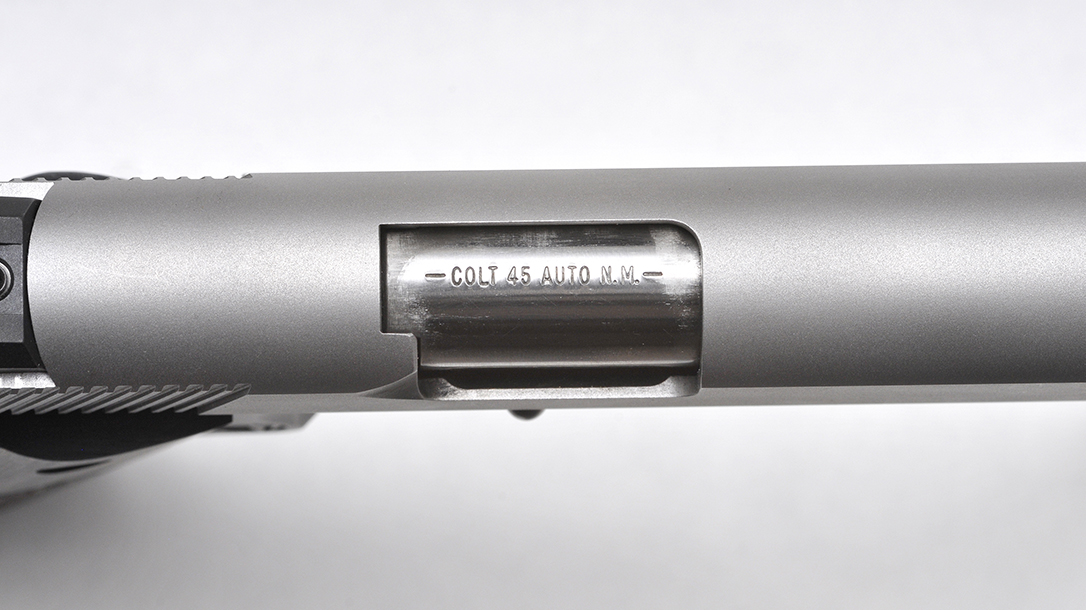 Colt Wiley Clapp Stainless Commander 1911 pistol barrel