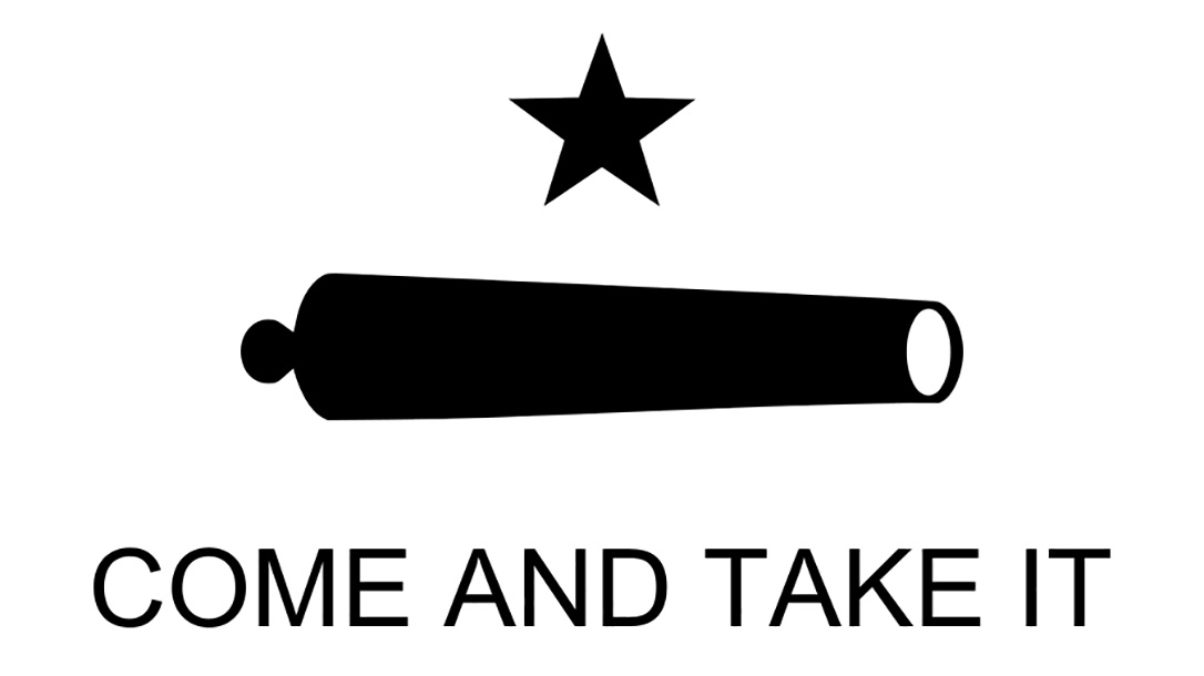 come and take it flag cannon