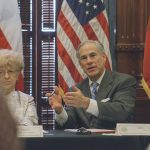 Texas Governor Greg Abbott second school safety discussion closeup