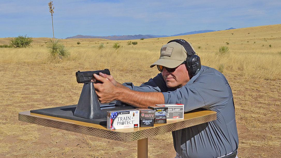 Hudson H9 pistol test
