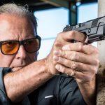 Hudson H9 pistol aiming