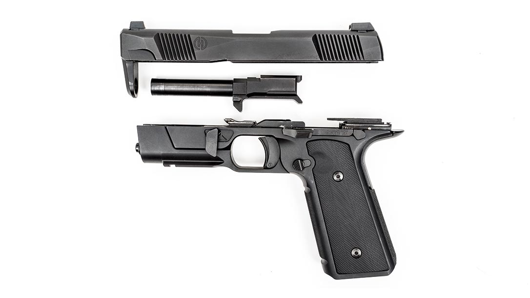Hudson H9 pistol disassembled