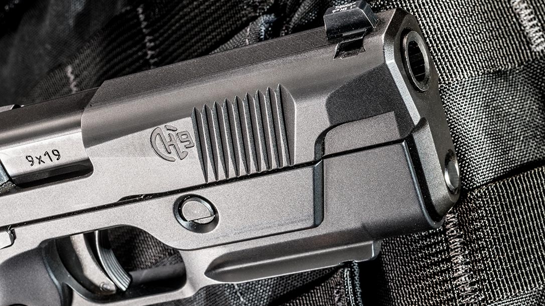 Hudson H9 pistol slide serrations rail
