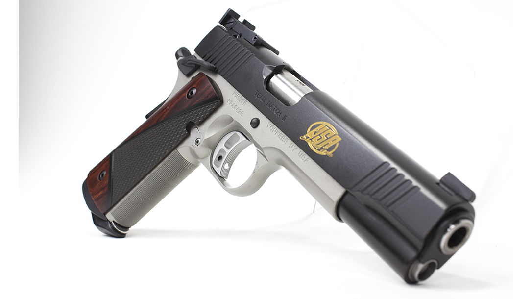 Kimber Team Match II pistol right angle