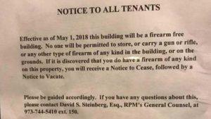 new jersey housing developer gun sign