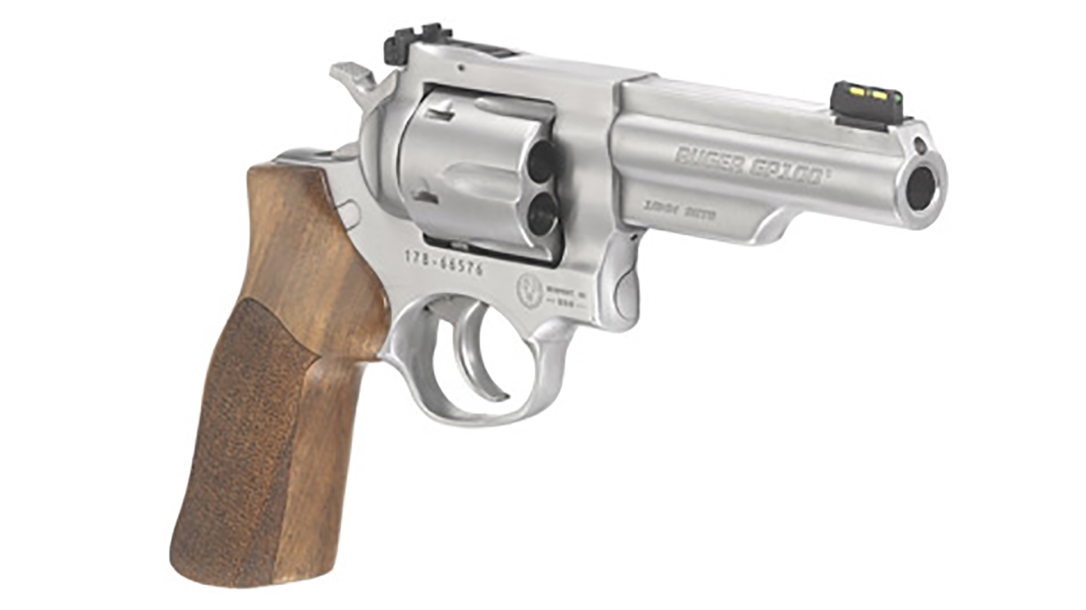 ruger gp100 match champion revolver right front angle