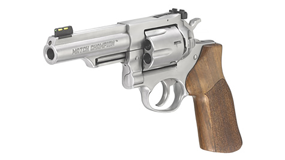 ruger gp100 match champion revolver left angle