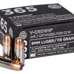 sig 365 ammo V-Crown round