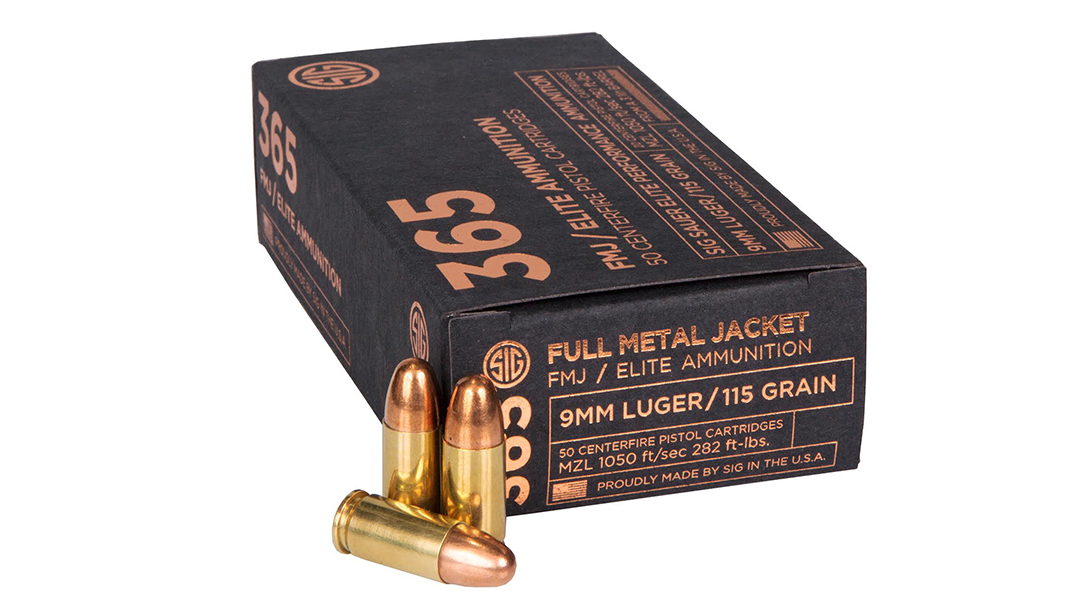 sig 365 ammo FMJ round