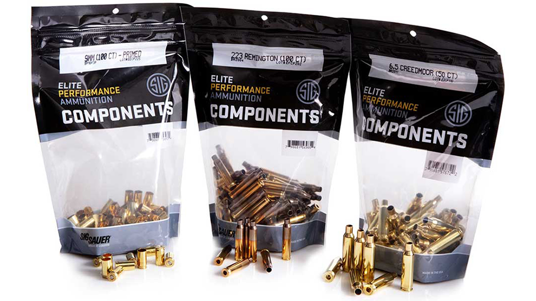 sig sauer brass reloading cases lineup