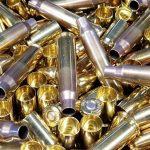 sig sauer brass reloading cases closeup