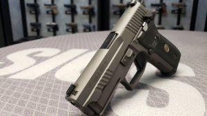 Sig Sauer Legion P229 SAO pistol front angle