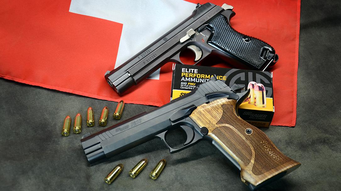 Sig P210 Target pistol new vs old