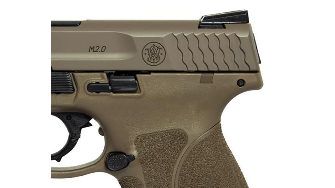 Smith & Wesson M&P45 M2.0 Pistol rear sight slide serrations