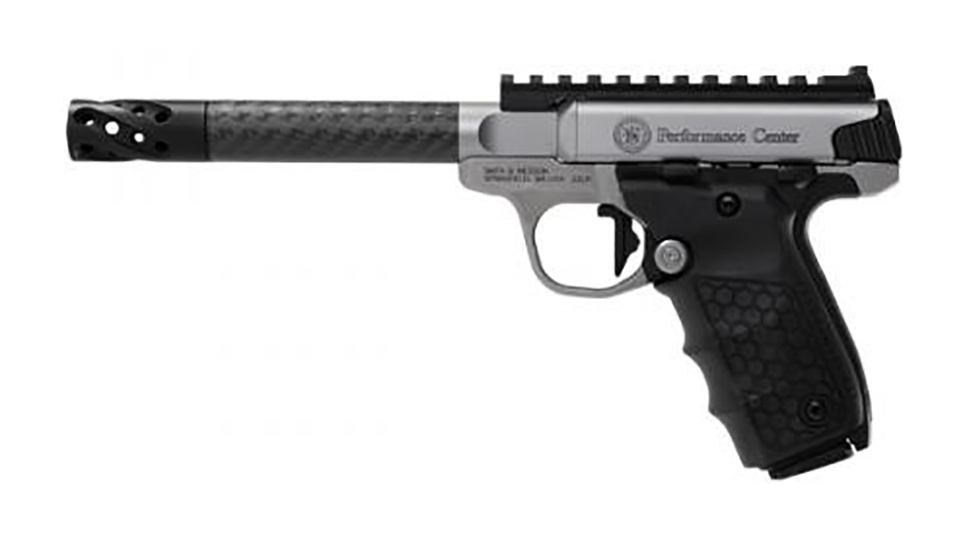 smith wesson sw22 victory target pistol carbon fiber barrel left profile