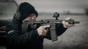 Springfield Saint AR Pistol .300 BLK action shot