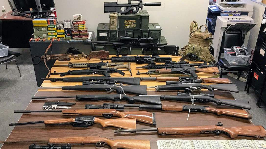 nypd gun bust firearms rifles shotguns