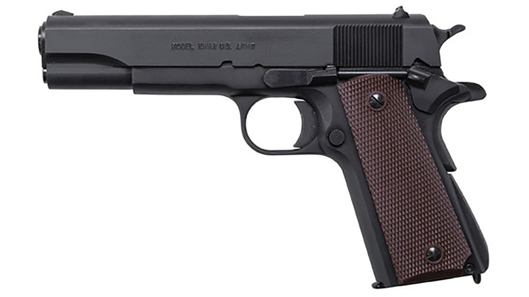 auto-ordnance 9mm 1911 handgun left profile