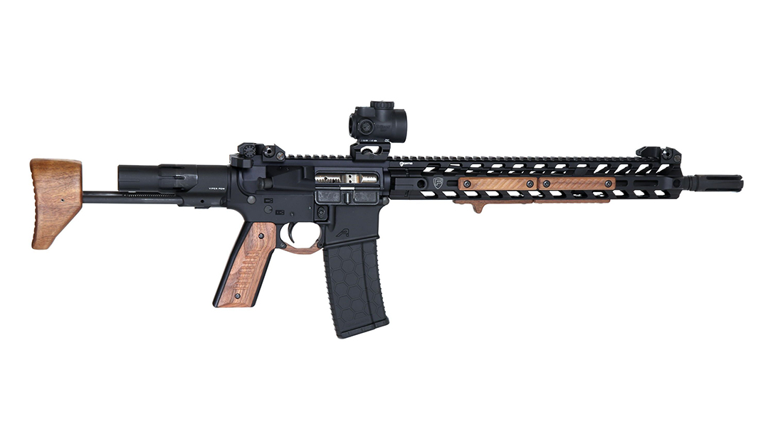 black wood usa wood pdw stock extended right profile