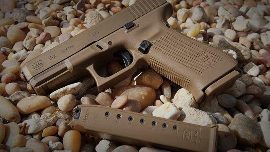 Glock 19X pistol 10-round magazine
