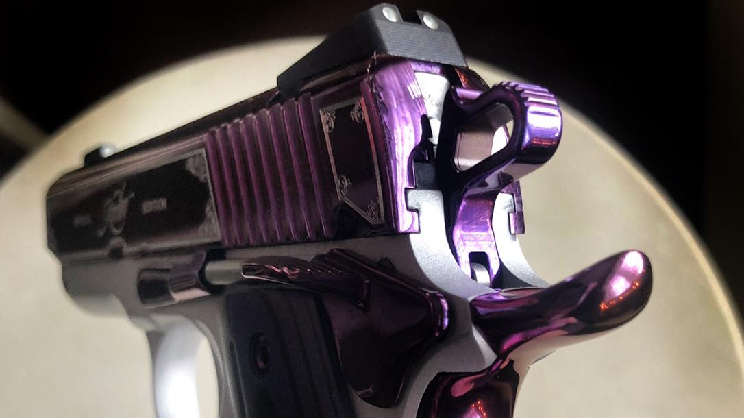 Kimber Amethyst Ultra II pistol rear sight left angle