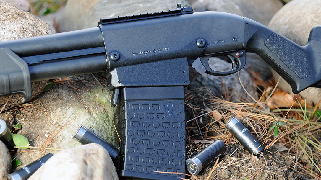 Remington 870 DM Magpul Shotgun magazine left profile