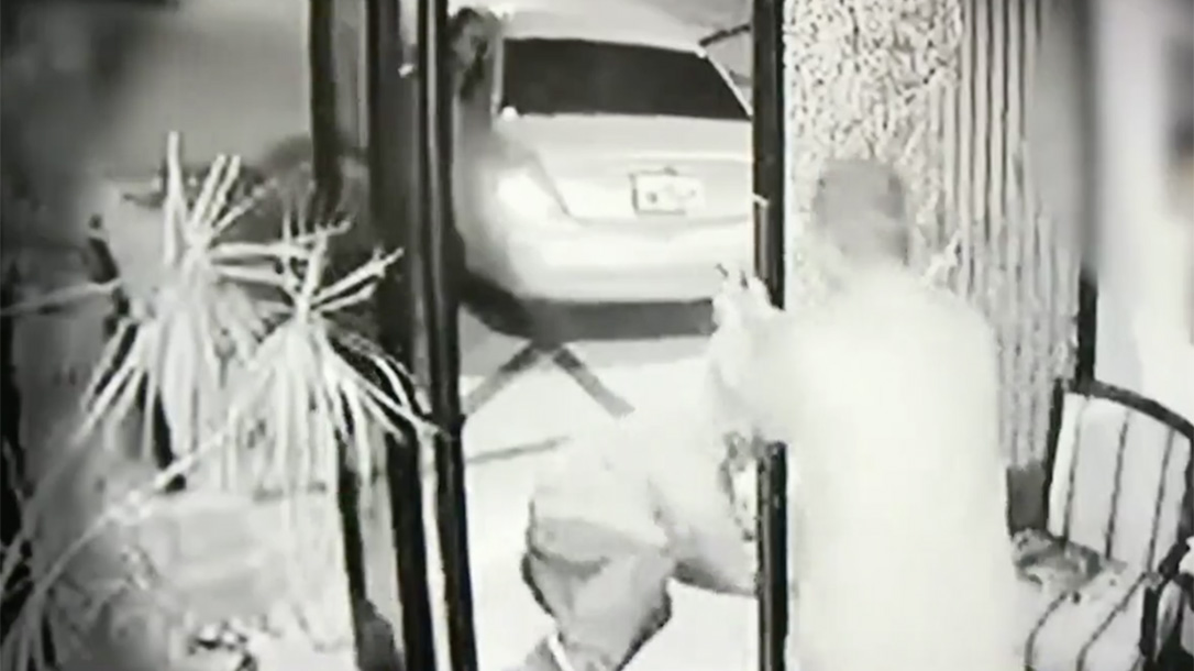 california auto shop owner shooting surveillance footage