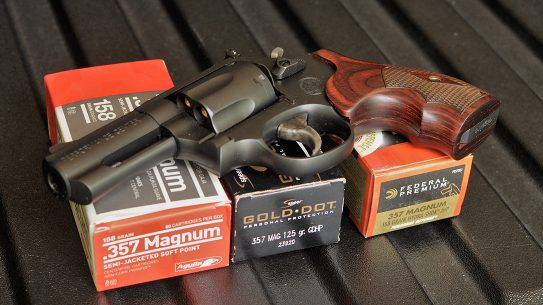 Smith & Wesson Performance Center Model 19 Carry Comp Revolver ammo