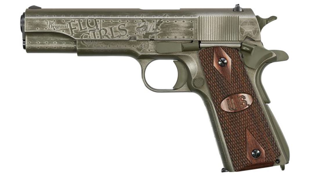 auto-ordnance fly girls 1911 pistol left profile
