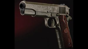auto-ordnance fly girls 1911 pistol left angle