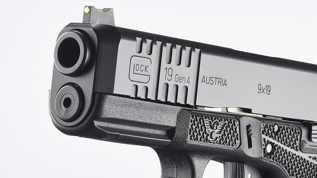 Wilson Combat Glock 19 Gen4 pistol muzzle