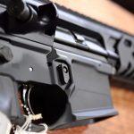 bullet button rifle closeup