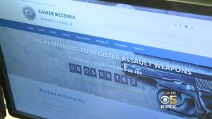 california bullet button rifle doj website