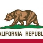 bullet button rifle california flag