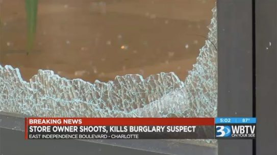 charlotte store owner shooting glass