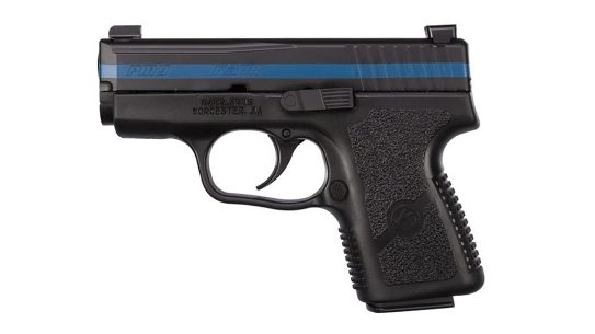 kahr thin blue line pm9 pistol left profile
