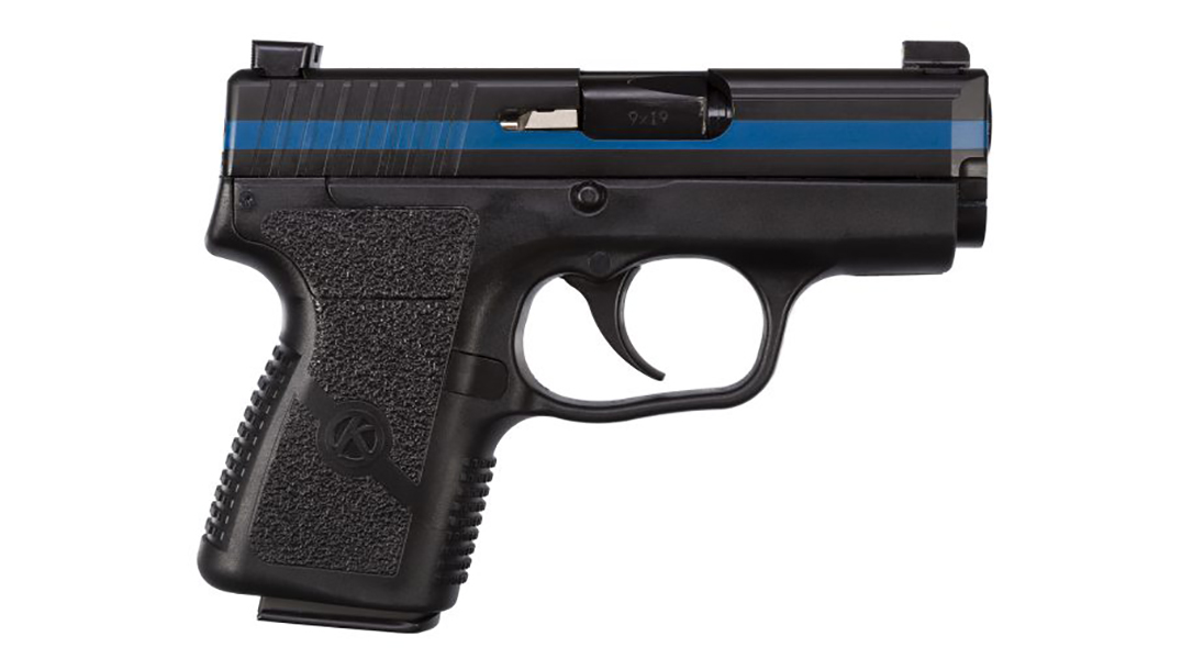 kahr thin blue line pm9 pistol right profile