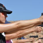 new female shooters firing line