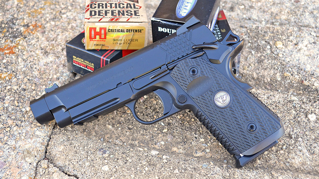 Wilson Combat X-TAC Elite Carry Comp 9mm pistol left profile