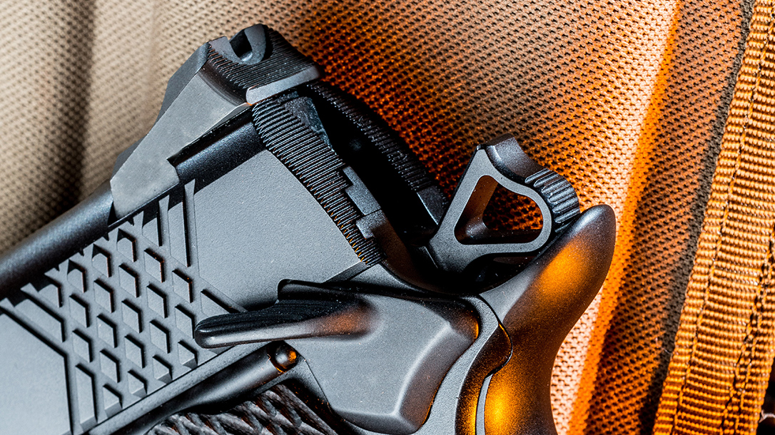 Wilson Combat X-TAC Elite Carry Comp 9mm pistol hammer