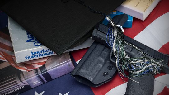 Georgia Campus Carry, handgun, pistol, cap and gown