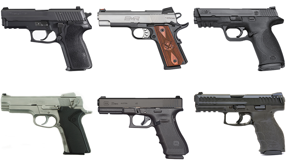 6 of the Best  40 S&W Pistols to Consider While They're