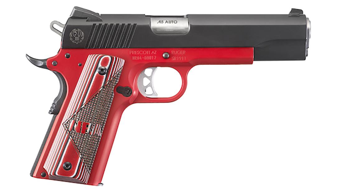 ruger, ruger sr1911, ruger nra sr1911, ruger sr1911 nra pistol right profile