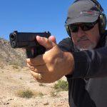 Glock 45 pistol, G45 pistol first Slickguns Review, aim
