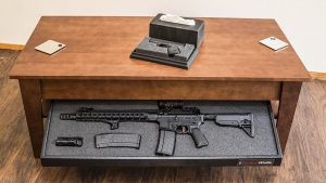 home defense, home defense gun, home defense guns, home defense safe, gun safe, gun safes, Tactical Walls Concealment Coffee Table