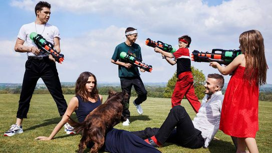 water guns, David Beckham, Victoria Beckham, anti-gun, beckham family, britain