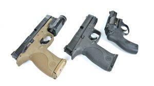 semi-auto pistols, revolvers, pistols