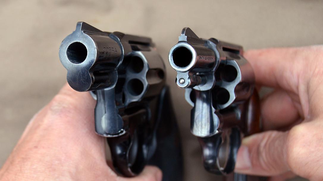 Snub Nose Revolvers, ejector shroud