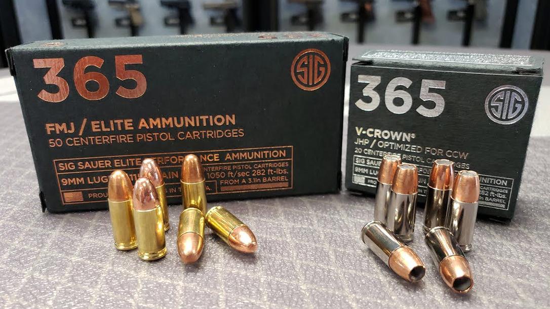 SIG P365 Ammo, ammunition